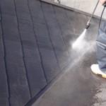 カラーベスト屋根の塗装工事。