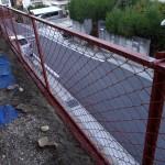 フェンスの塗装工事。