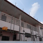 住宅の塗り替え工事。