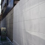 ブロック塀の塗装工事完了。