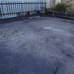 車庫の防水工事。