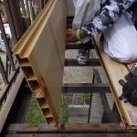 鉄部塗装工事。