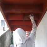塗装工事しながら。