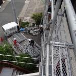 バルコニーの防水工事。