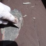 瓦棒屋根の塗装工事。