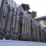 フェンスの撤去。