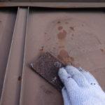 瓦棒屋根の塗装。