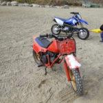 チビの初バイク。